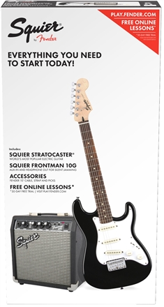 Strat® SS Pack (Short-Scale) - Black