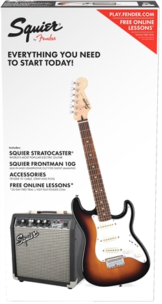 Strat® SS Pack (Short-Scale) - Brown Sunburst