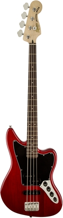 Vintage Modified Jaguar® Bass Special - Crimson Red Transparent