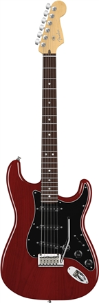American Deluxe Ash Stratocaster® (2010-2015) - Wine Transparent