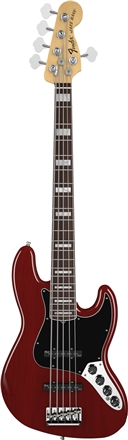 American Deluxe Jazz Bass® V - Wine Transparent