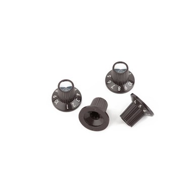 "Acoustasonic™ Series ""1-10"" Brown-Silver Amplifier Knobs view 1.0"