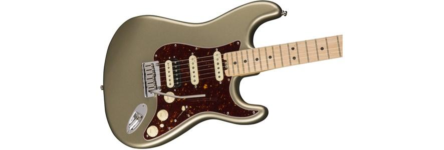 American Elite Stratocaster® HSS Shawbucker - Champagne