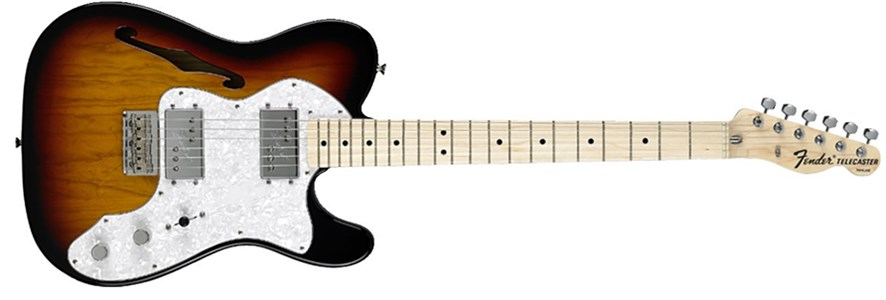 Classic Series '72 Telecaster® Thinline - 3-Color Sunburst