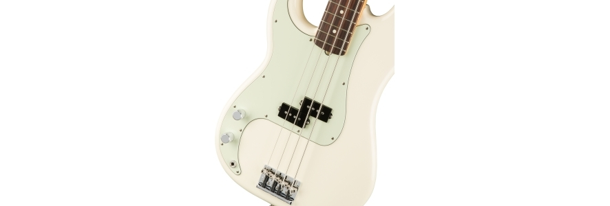 American Professional Precision Bass® Left-Hand - Olympic White