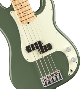 American Professional Precision Bass® V - Antique Olive