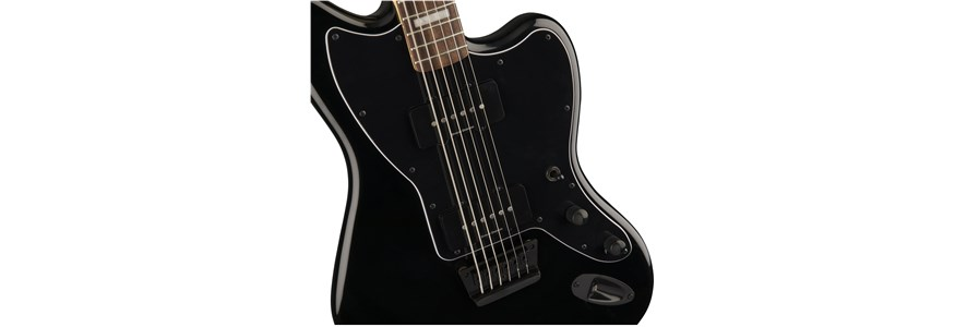 Vintage Modified Baritone Jazzmaster® - Transparent Black