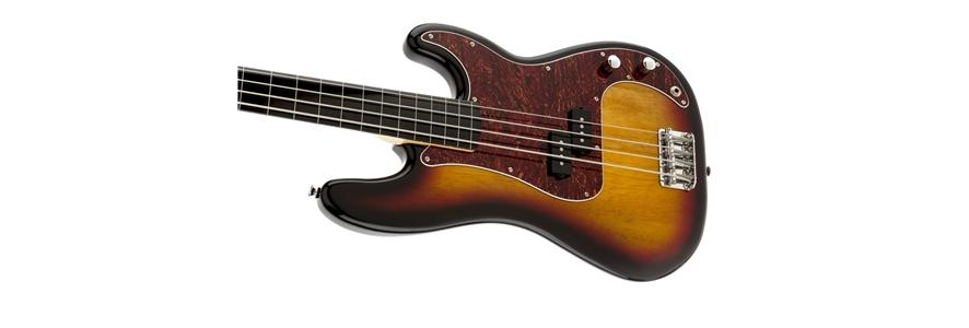 Vintage Modified Precision Bass® Fretless - 3-Color Sunburst