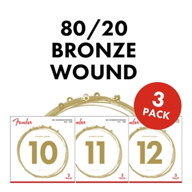 80/20 Bronze Acoustic Strings - 3-Pack -