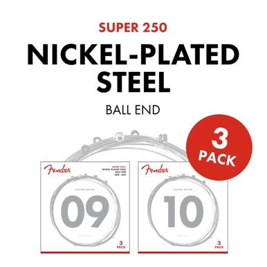 3-Pack Super 250's Nickel-Plated Steel Strings view 1.0