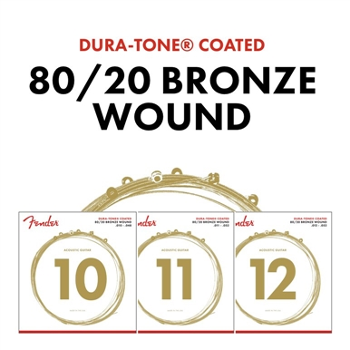 80/20 Dura-Tone® Coated Acoustic Guitar Strings -