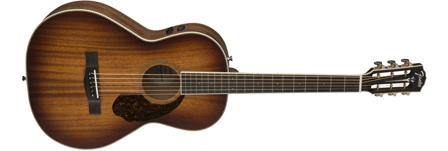 PM-2E Parlor All-Mahogany, Antique Cognac Burst -