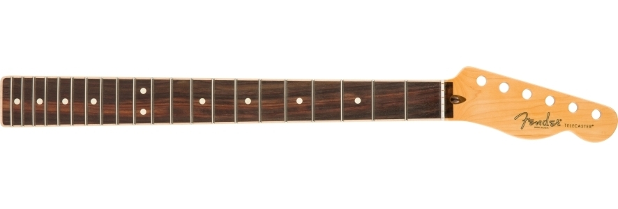 American Channel Bound Telecaster® Neck, 21 Med Jumbo Frets - Rosewood view 1.0
