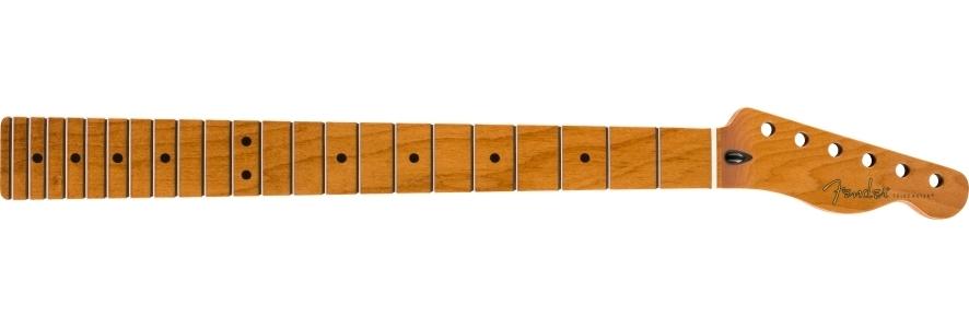 """Roasted Maple Telecaster® Neck, 22 Jumbo Frets, 12"""", Maple, Flat Oval Shape view 1.0"""