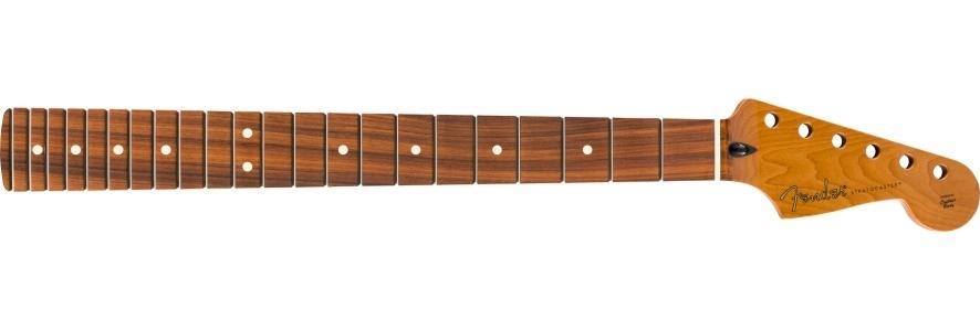 "Roasted Maple Stratocaster® Neck, 22 Jumbo Frets, 12"", Flat Oval Shape view 1.0"