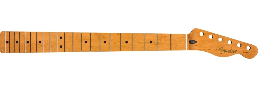 """Roasted Maple Telecaster® Neck, 21 Narrow Tall Frets, 9.5"""", Maple, C Shape view 1.0"""