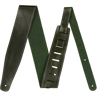 "2.5"" Leather Strap - Green"