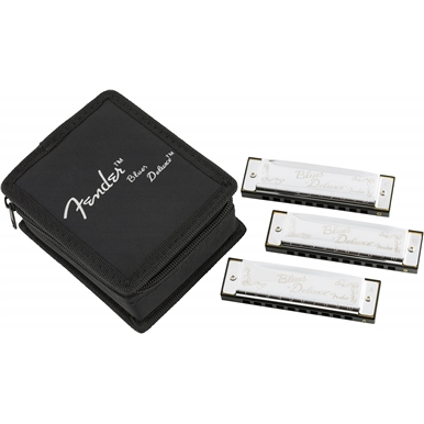Fender® Blues Deluxe Harmonicas 3-Pack with Case view 1.0