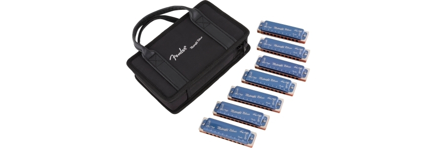 Fender® Midnight Blues Harmonicas - 7-Pack with Case view 1.0