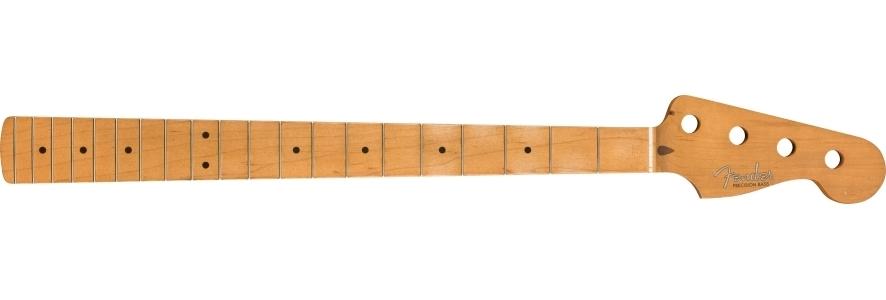 Road Worn® '50's Precision Bass® Neck, 20 Vintage Frets, Maple, C Shape view 1.0