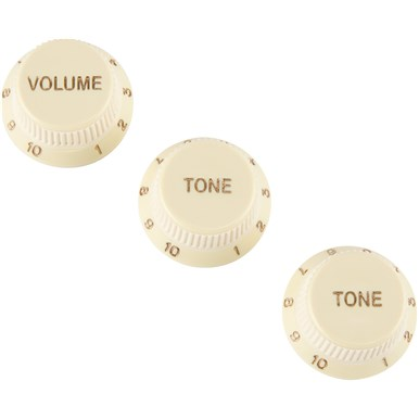 Stratocaster® Soft Touch Knobs, Aged White -