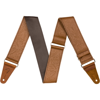 """Tooled Leather Guitar Strap, 2"""" view 1.0"""