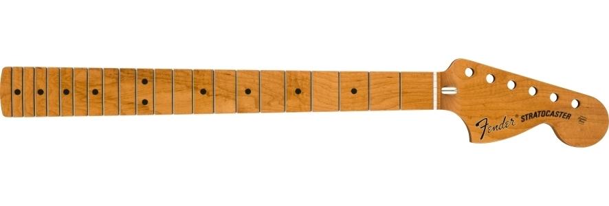 "Roasted Maple Vintera® Mod '70's Stratocaster® Neck, 21 Medium Jumbo Frets, 9.5"", ""C"" Shape view 1.0"