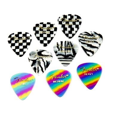 Fender® 351 Shape Graphic Picks (12 per pack) - Rainbow