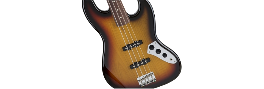Made in Japan Traditional 60s Jazz Bass® Fretless - 3-Color Sunburst