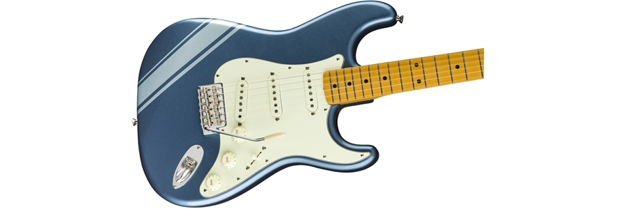 FSR Traditional '50s Stratocaster® with Stripe - Lake Placid Blue with Ice Blue Metallic Stripes