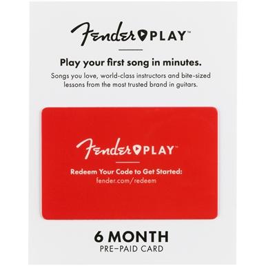 Fender Play™ Prepaid Cards view 1.0