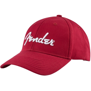 Fender® Logo Stretch Cap, Red -