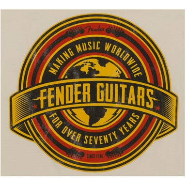 Fender® Worldwide Men's T-Shirt - Tan