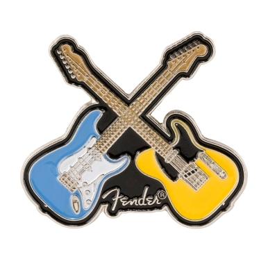 Fender™ Crossed Guitars Enamel Pin view 1.0