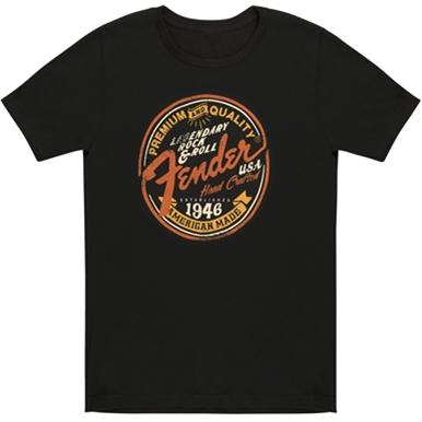 Fender® Legendary Rock N Roll Women's Crew - Black