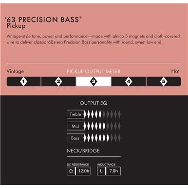 Pure Vintage '63 Precision Bass® Pickup -