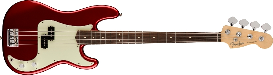 American Professional Precision Bass® - Candy Apple Red
