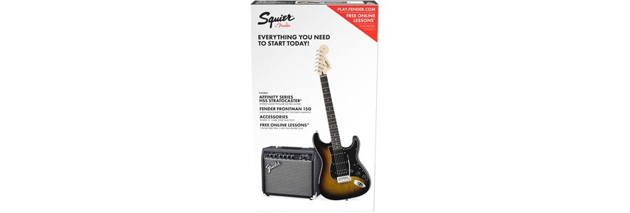 Affinity Series™ Stratocaster® HSS Pack - Brown Sunburst