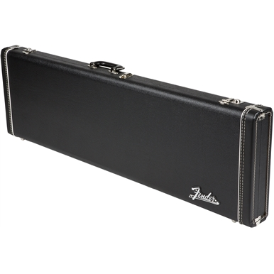 G&G Deluxe Hardshell Cases - Jazz Bass® - Black with Orange Plush Interior
