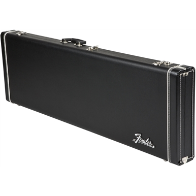 Fender® Pro Series Bass Cases - Black with Black Plush Interior