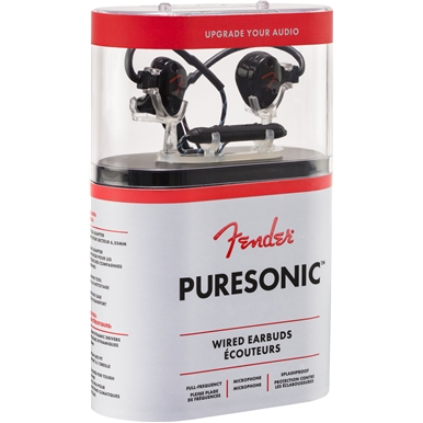 PureSonic™ Wired Earbuds - Black Metallic