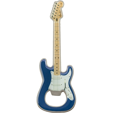 Fender™ Stratocaster™ Blue Bottle Opener Magnet -