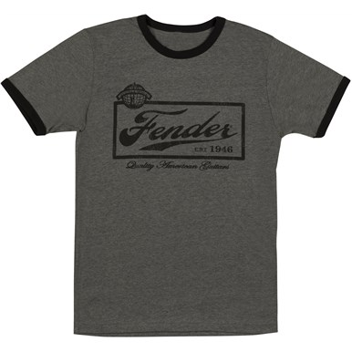 Fender® Beer Label Mens T-Shirt, Black - Black