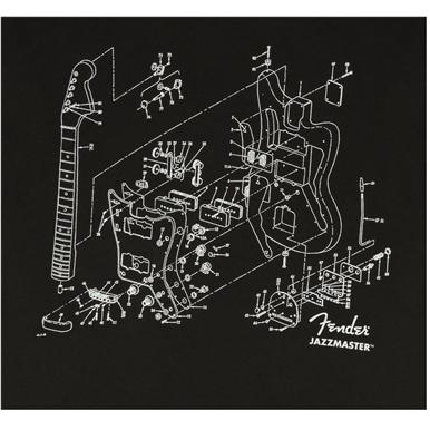 Fender® Jazzmaster® Patent Drawing T-Shirt - Black