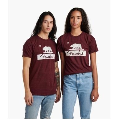 Fender® Burgundy Bear Unisex T-Shirt view 1.0