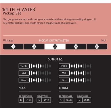 Pure Vintage '64 Telecaster® Pickup Set -