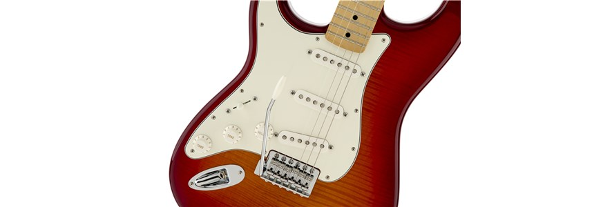 Standard Stratocaster® Plus Top Left-Hand - Aged Cherry Burst
