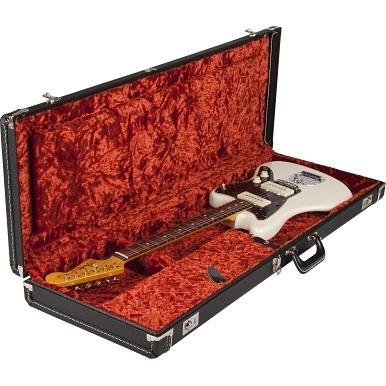 G&G Deluxe Hardshell Cases - Jaguar® - Jazzmaster® - Toronado® - Jagmaster™ - Black with Orange Plush Interior