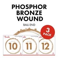 Phosphor Bronze Acoustic Guitar Strings (3-Pack) -