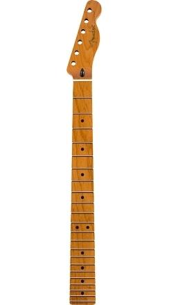 """Roasted Maple Telecaster® Neck, 22 Jumbo Frets, 12"""", Maple, Flat Oval Shape -"""